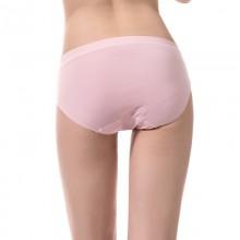 fimage有致102067简约无缝平纹三角裤 纯色中腰女士三角内裤