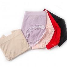 fimage有致102076女士蕾丝印花三角内裤舒服性感提花无缝中腰棉抗菌女裤头