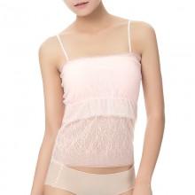 Fimage有致101017蕾丝抹胸裹胸长款带胸垫吊带背心围修身防走光打底内衣
