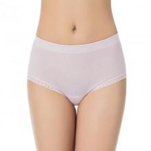 fimage有致17新款102058中腰女士内裤纯棉裆无缝无痕蕾丝性感包臀三角裤3条组合装